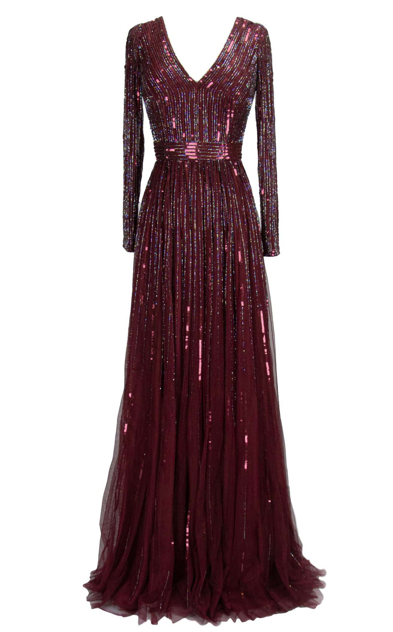 Paul Rekhi 5264 Dress Burgundy