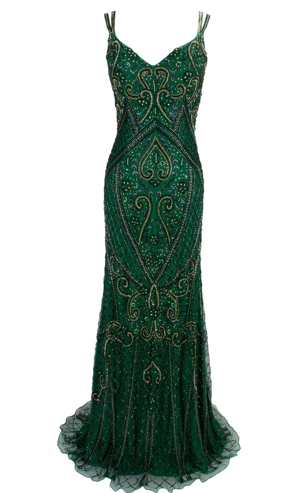 Paul Rekhi 5266 Dress Jewel-Green