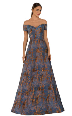 Janique 5621 Dress Blue