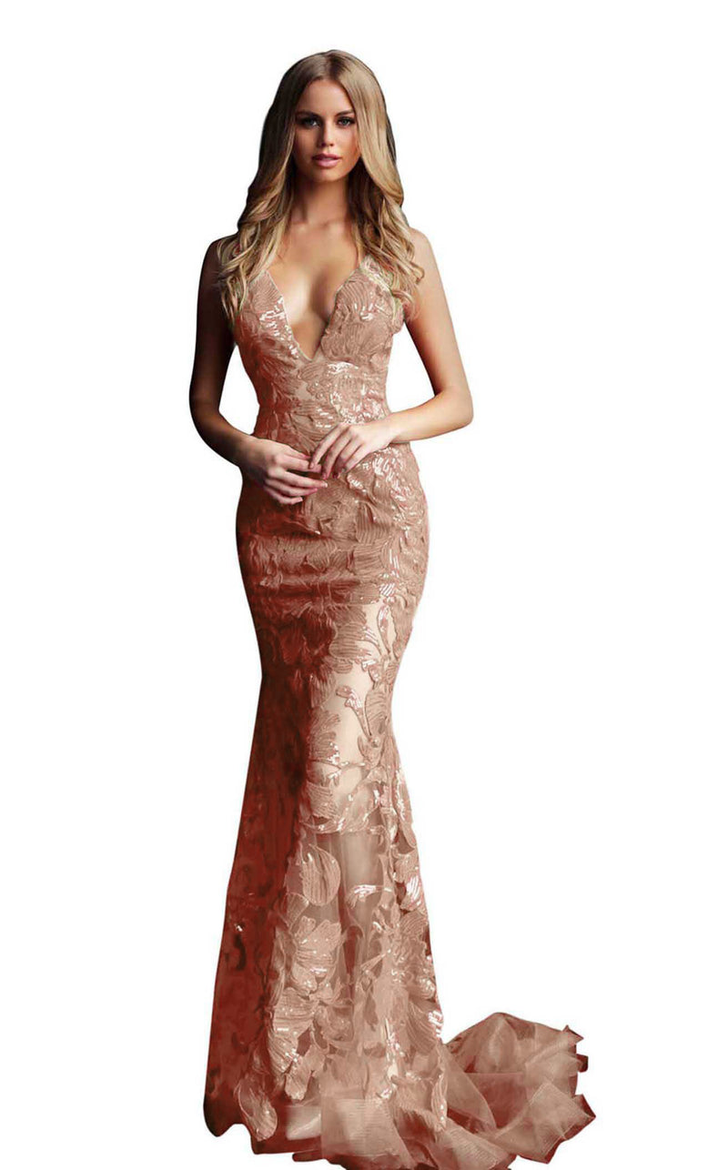 Jovani 60283 Rose Gold
