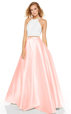 Alyce 60614 Dress Diamond-White-French-Pink