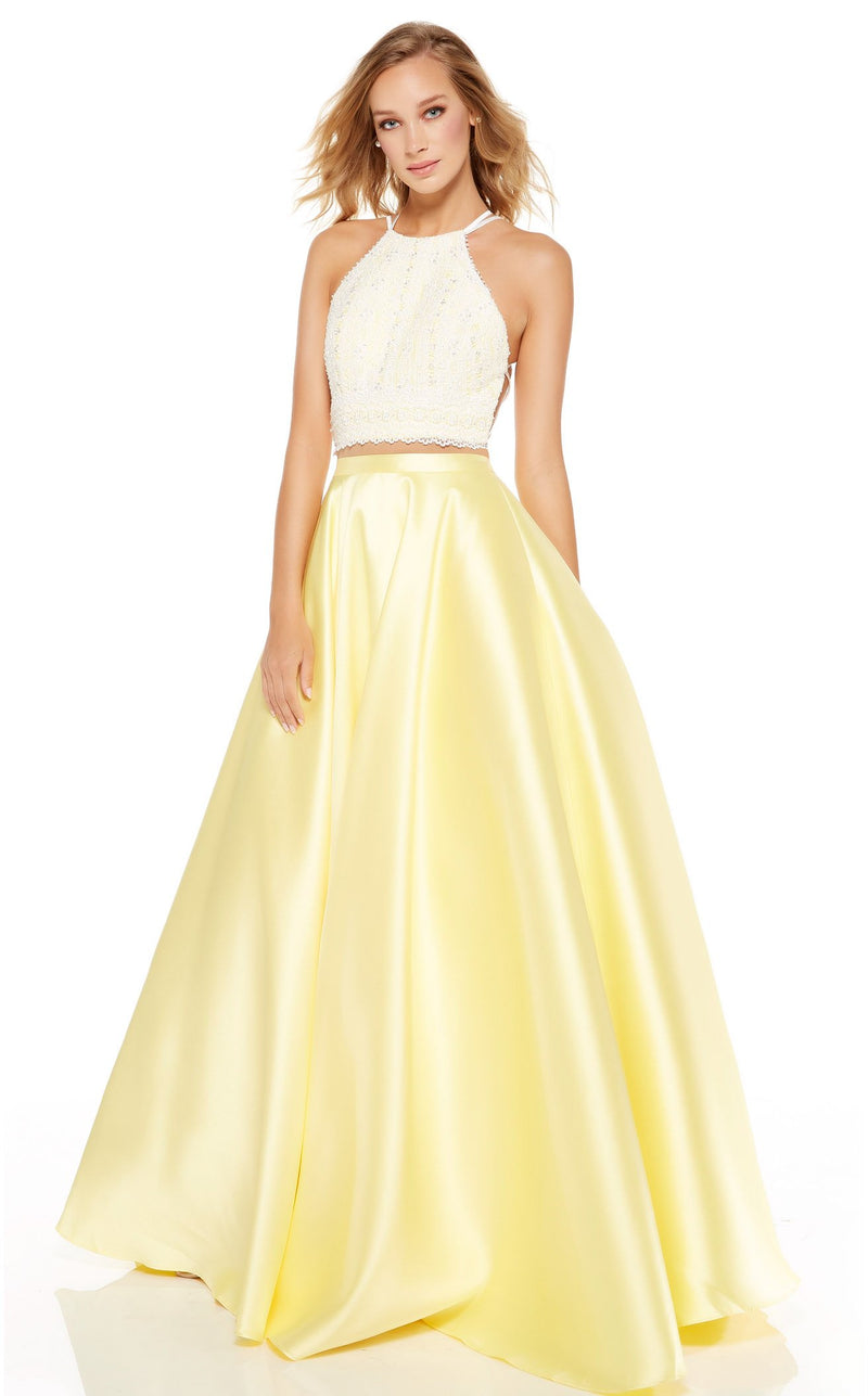 Alyce 60614 Dress Diamond-White-Lemon-Drop