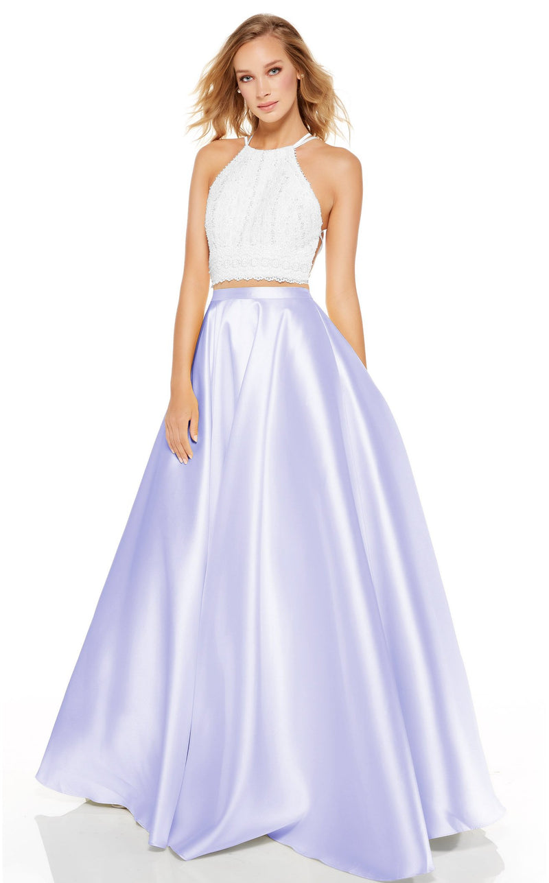 Alyce 60614 Dress Diamond-White-Lilac