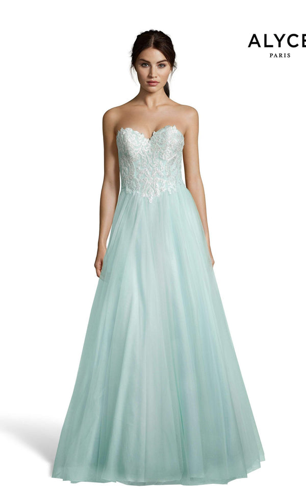 Alyce 60617 Dress Diamond-White-Seaglass
