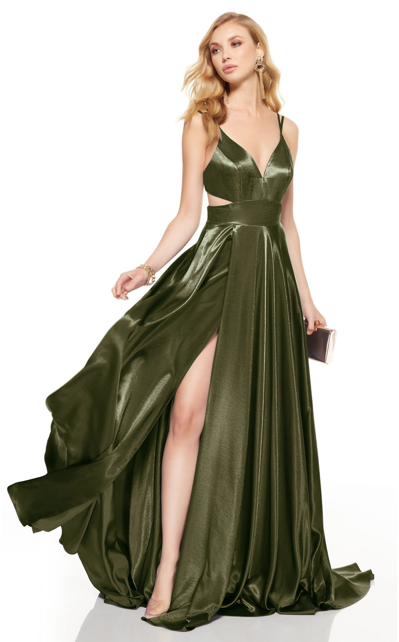 Alyce 60625 Dress Olive-Green