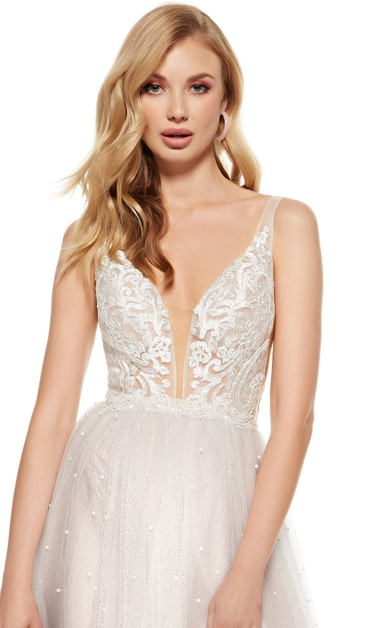 Alyce 60686 Dress Cashmere-Rose-White