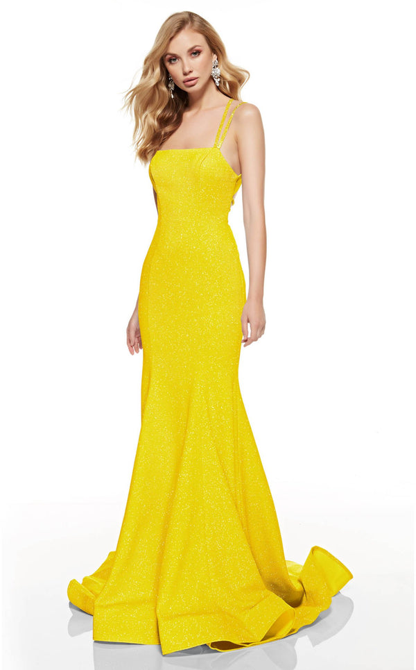 Alyce 60692 Dress Bright-Yellow