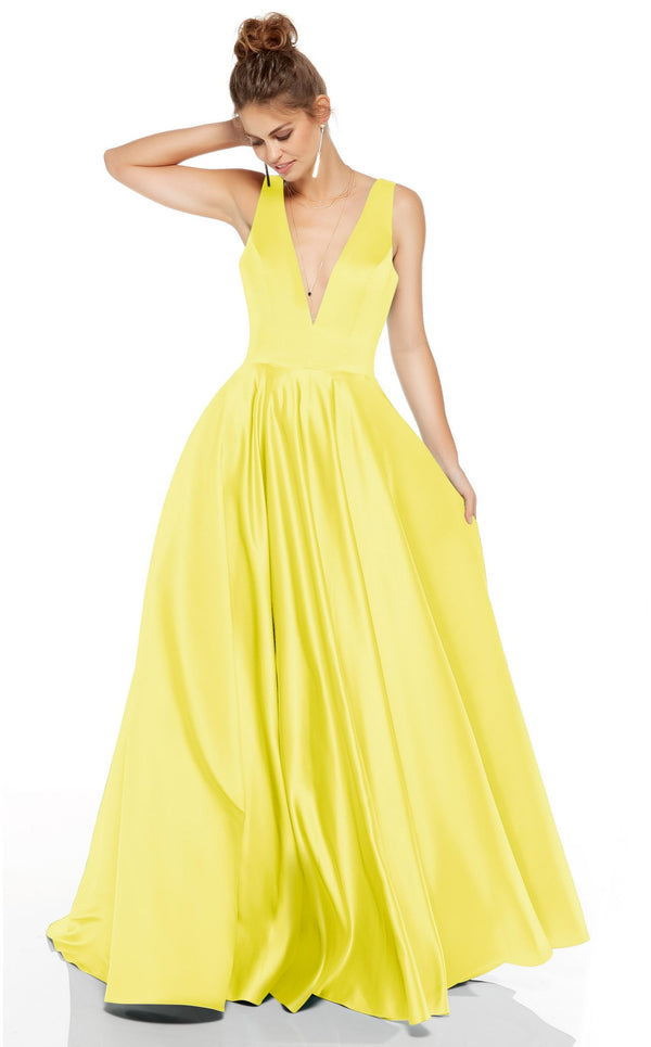 Alyce 60707 Dress Light-Yellow