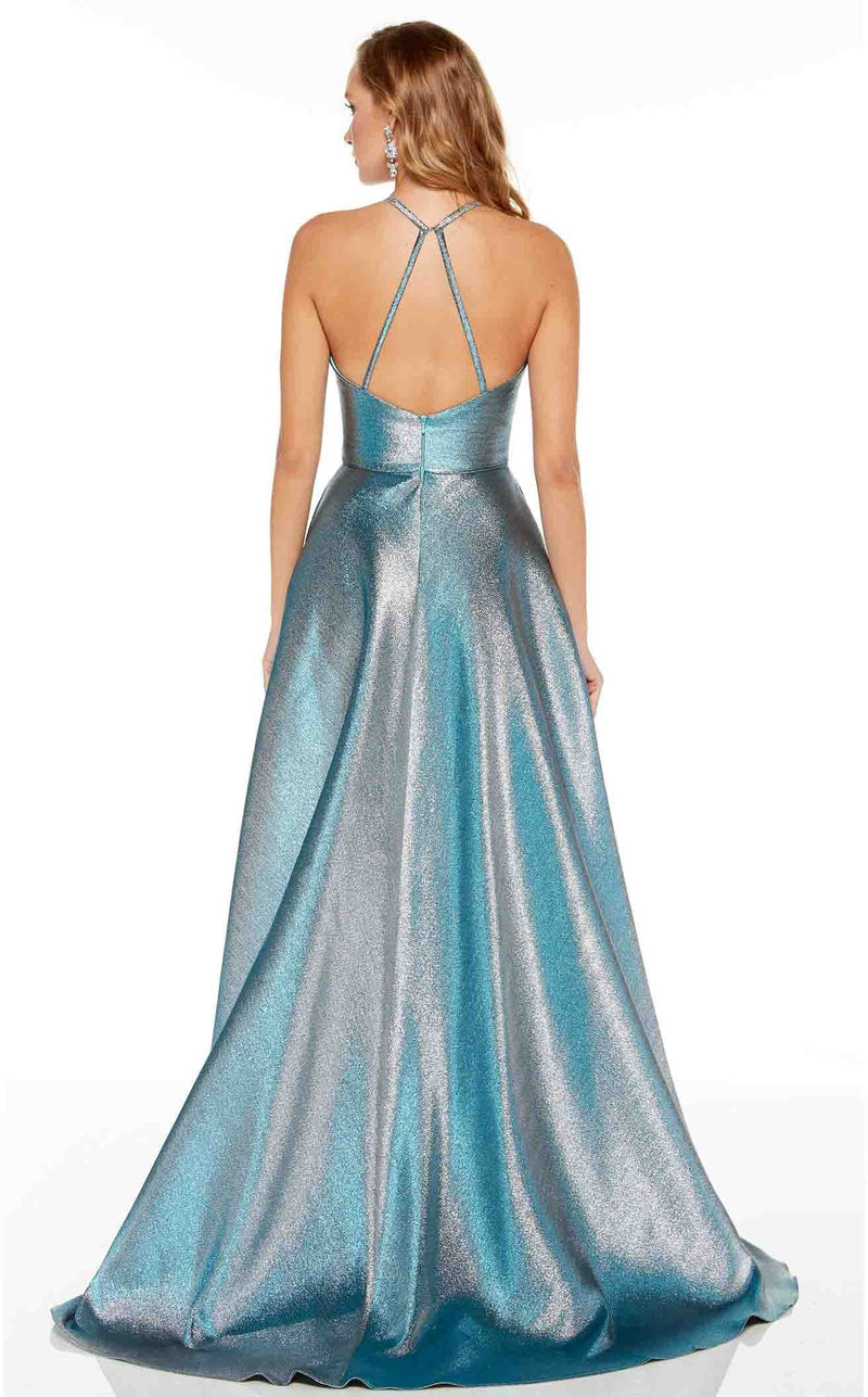 Alyce 60714 Dress Peacock-Silver