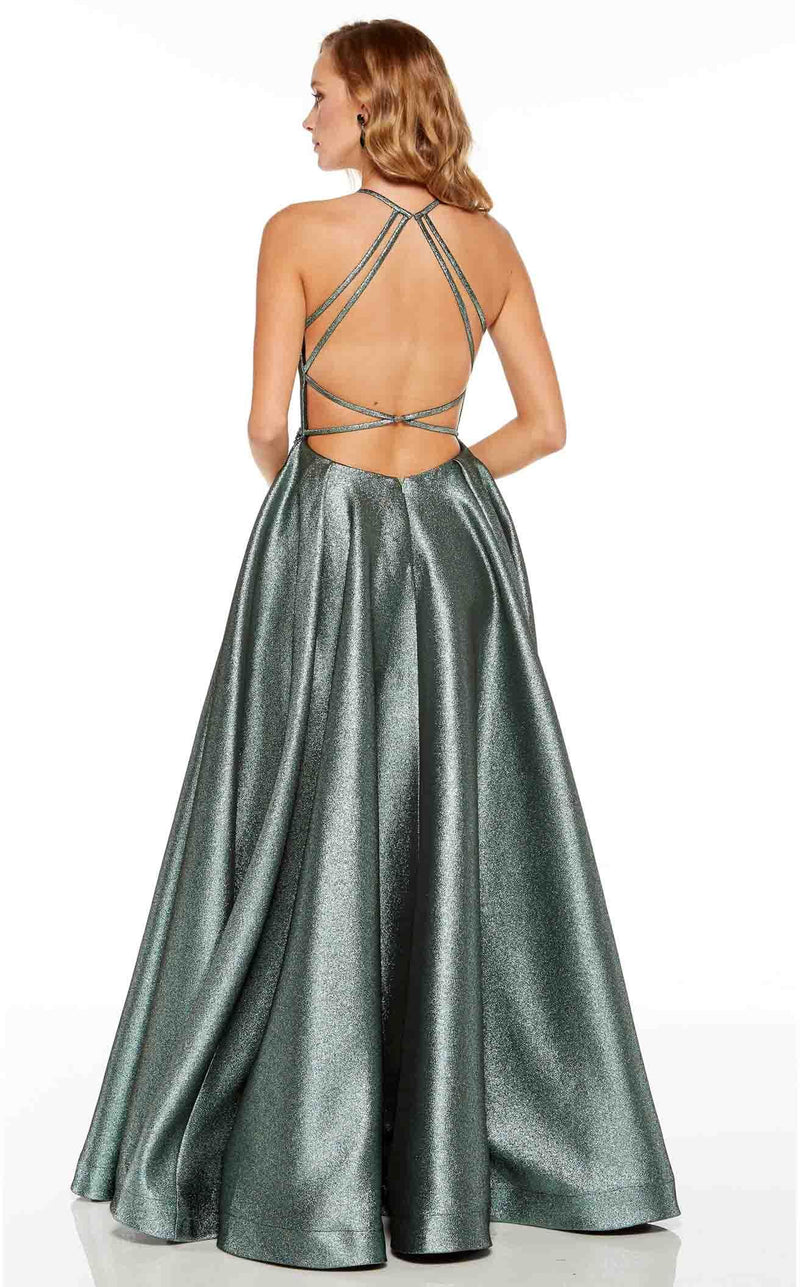 Alyce 60717 Dress Metallic-Sage