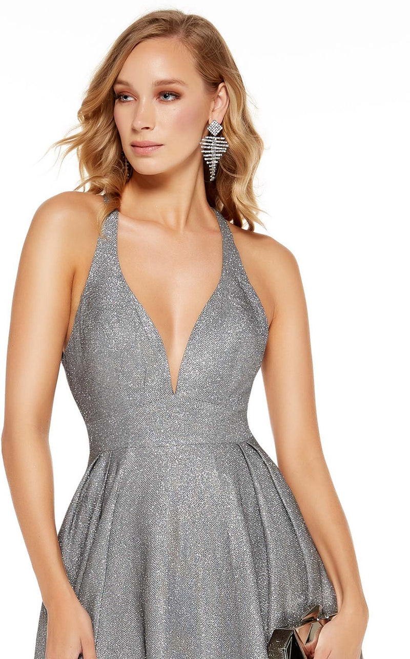Alyce 60722 Dress Dripping-Diamonds-Silver