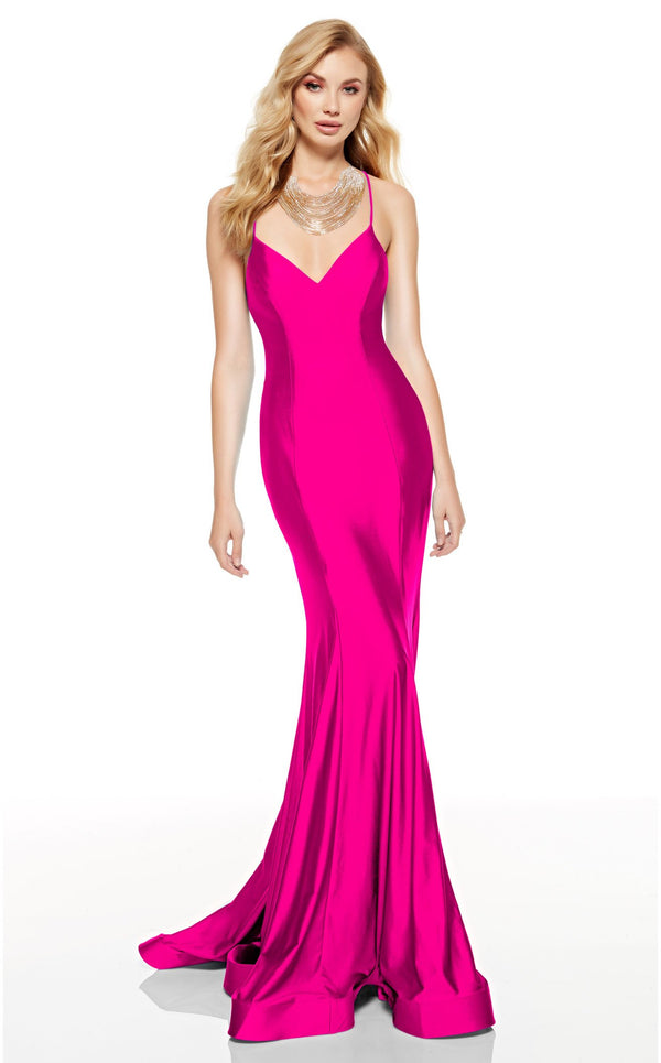 Alyce 60764 Dress Electric-Fuchsia