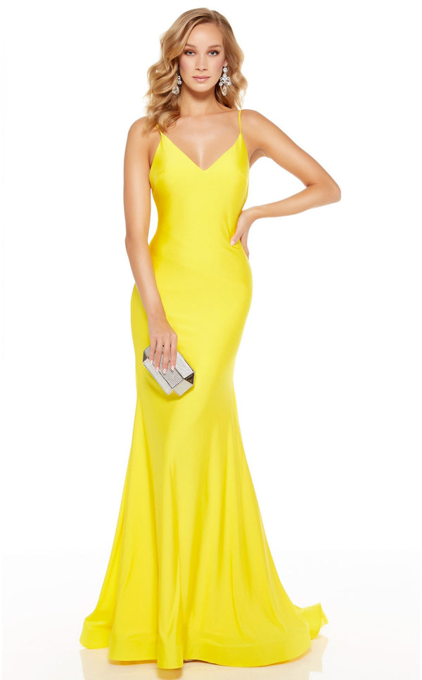 Alyce 60773 Dress Bright-Yellow