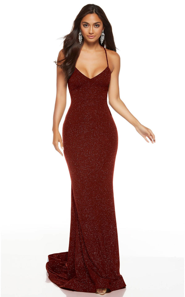 Alyce 60796 Dress Wine