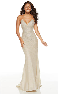 Alyce 60804 Dress Light-Gold