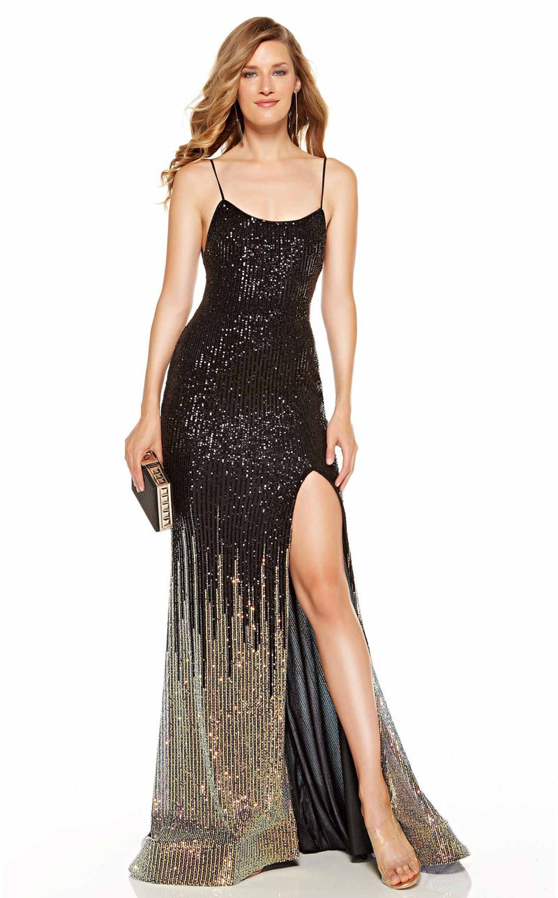 Alyce 60836 Dress Black-Gold