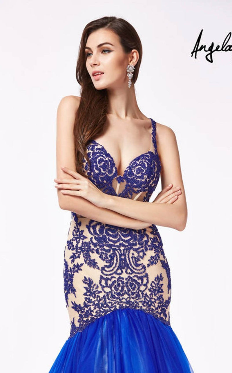 Angela and Alison 61204 Royal-Blue-Nude