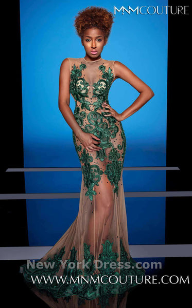 MNM Couture 0614 Green/Nude
