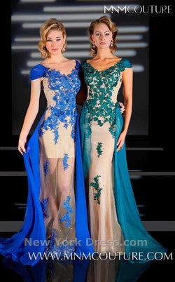MNM Couture 0616 Nude/Blue