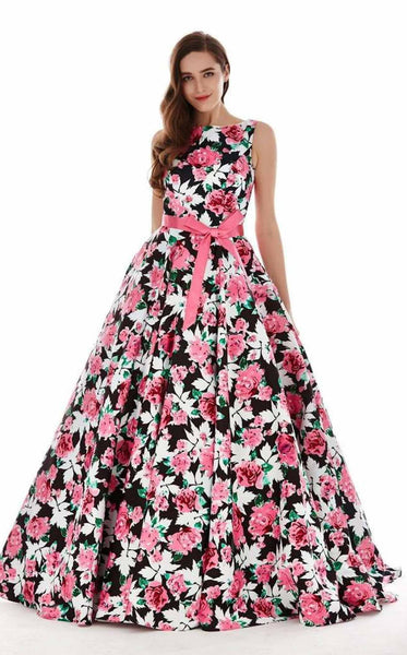 Angela and Alison 62046 Black-Floral