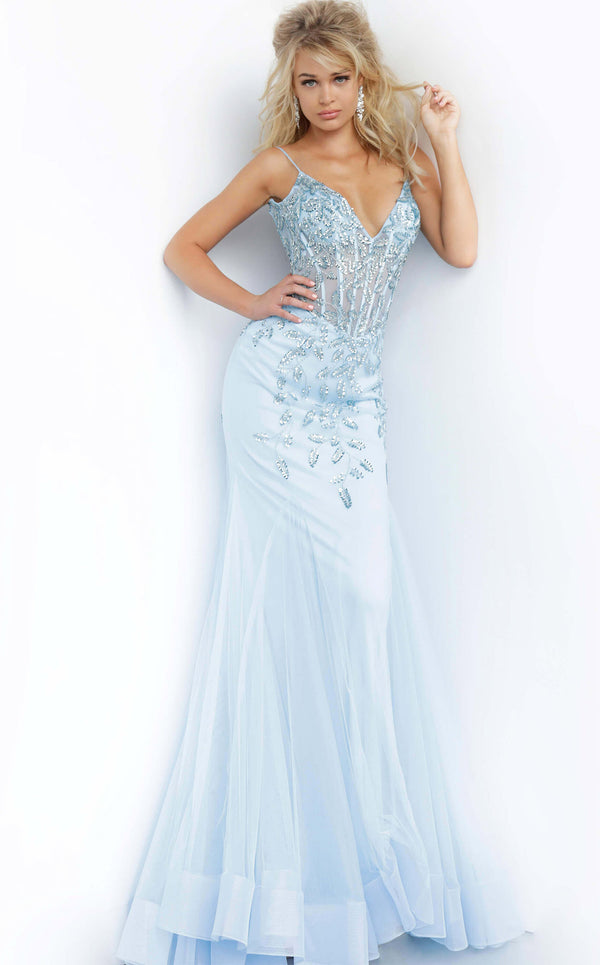Jovani 63704 Light Blue