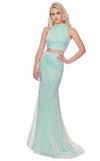 Rachel Allan 6450 Mint-Blue-Iridescent
