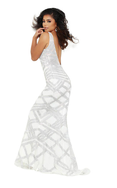 Jasz Couture 6472 Ivory-Silver