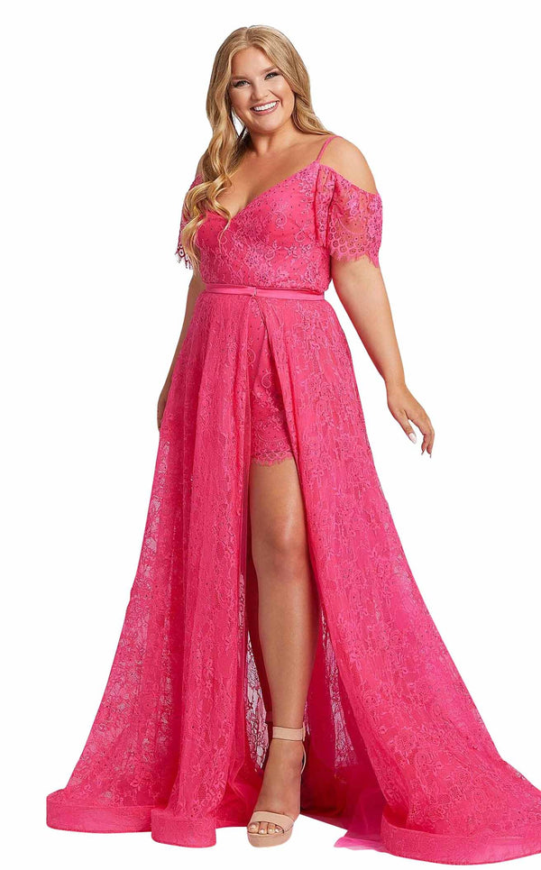 Mac Duggal Fabulouss 67220F Hot-Pink
