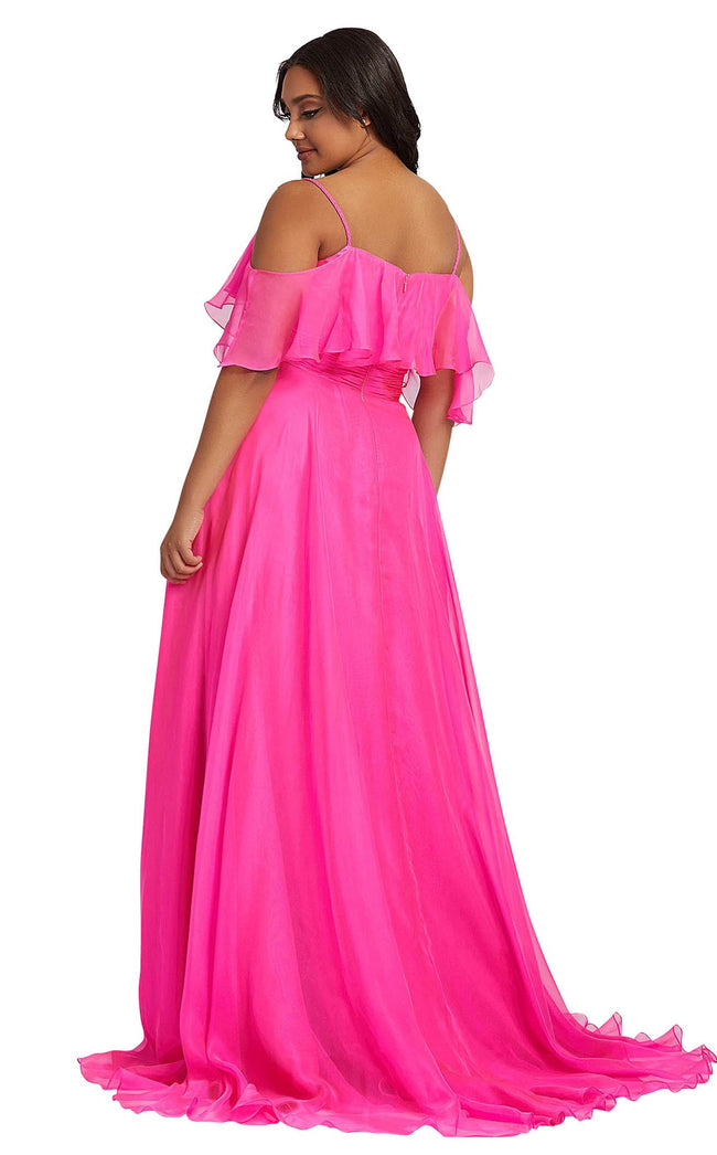 Mac Duggal Fabulouss 67224F Hot-Pink