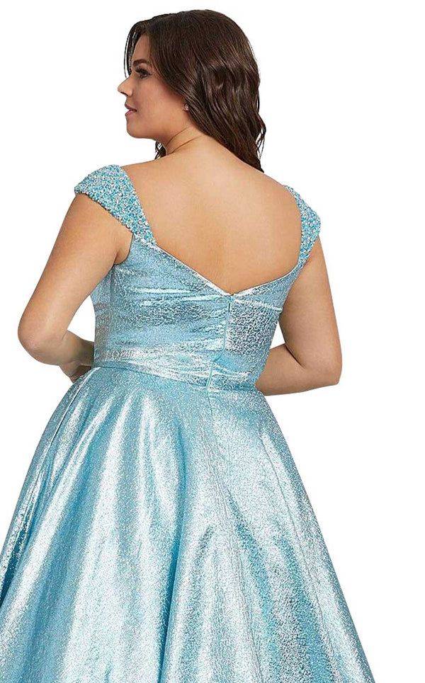 Mac Duggal Fabulouss 67236F Blue-Shimmer