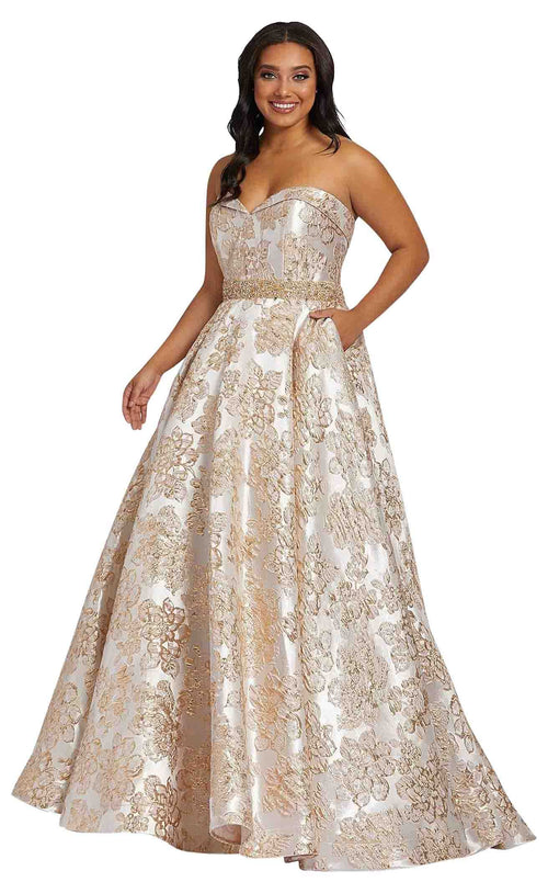 Mac Duggal Fabulouss 67238F Oyster-Gold