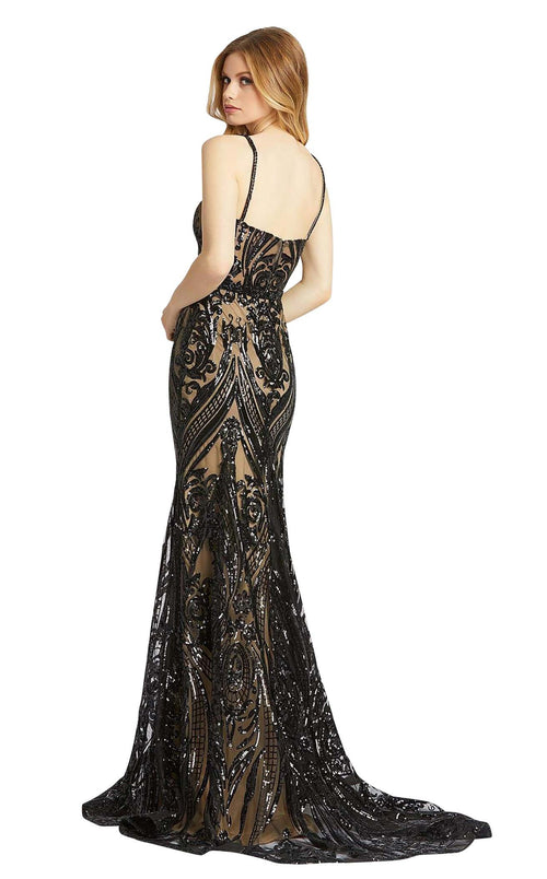 Mac Duggal 67353M Black-Nude