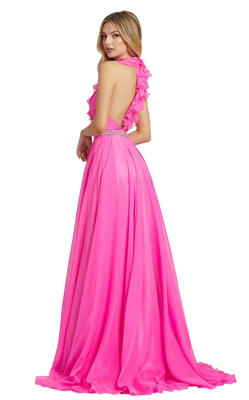 Mac Duggal 67382L Hot-Pink