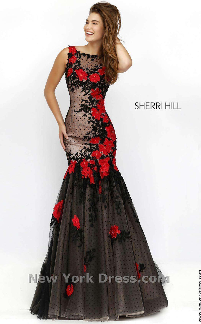 Sherri Hill 11326 Black/Red