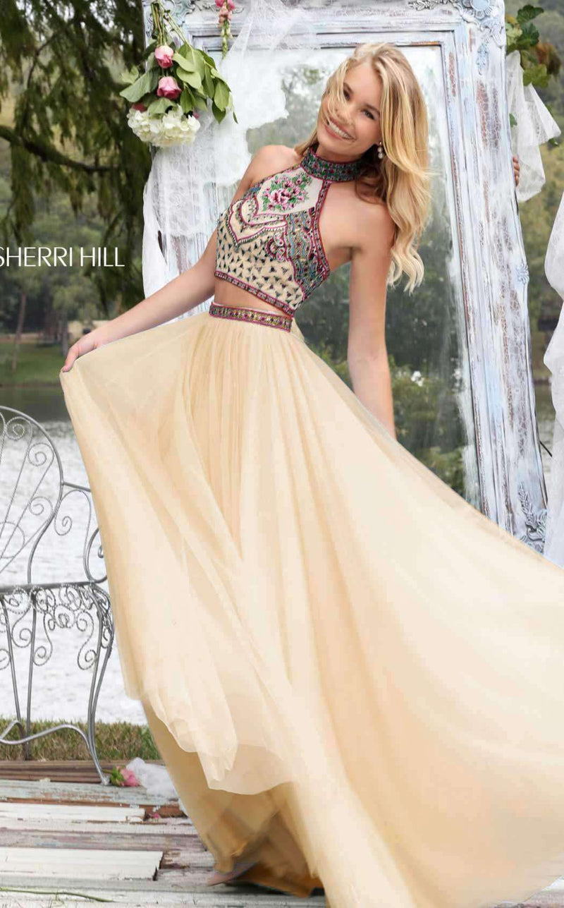 Sherri Hill 50075 Nude/Multi