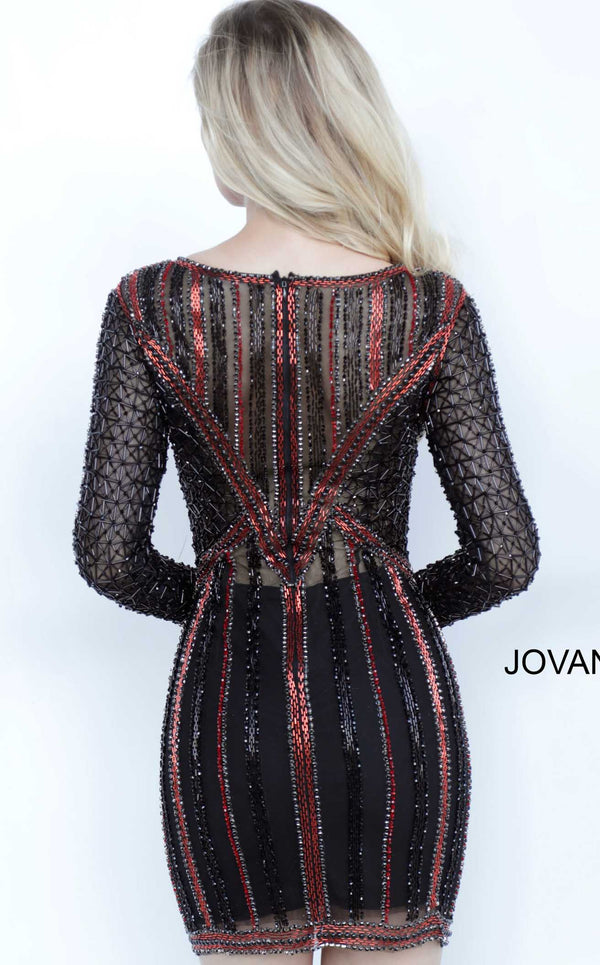 Jovani 68478 Black Multi