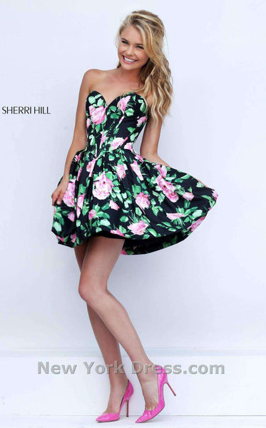 Sherri Hill 50146 Black/Pink