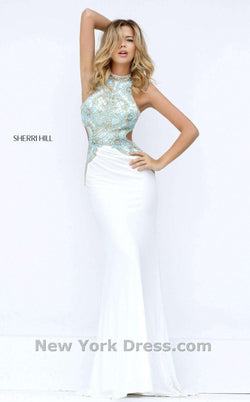 Sherri Hill 50153 Ivory/Light Blue