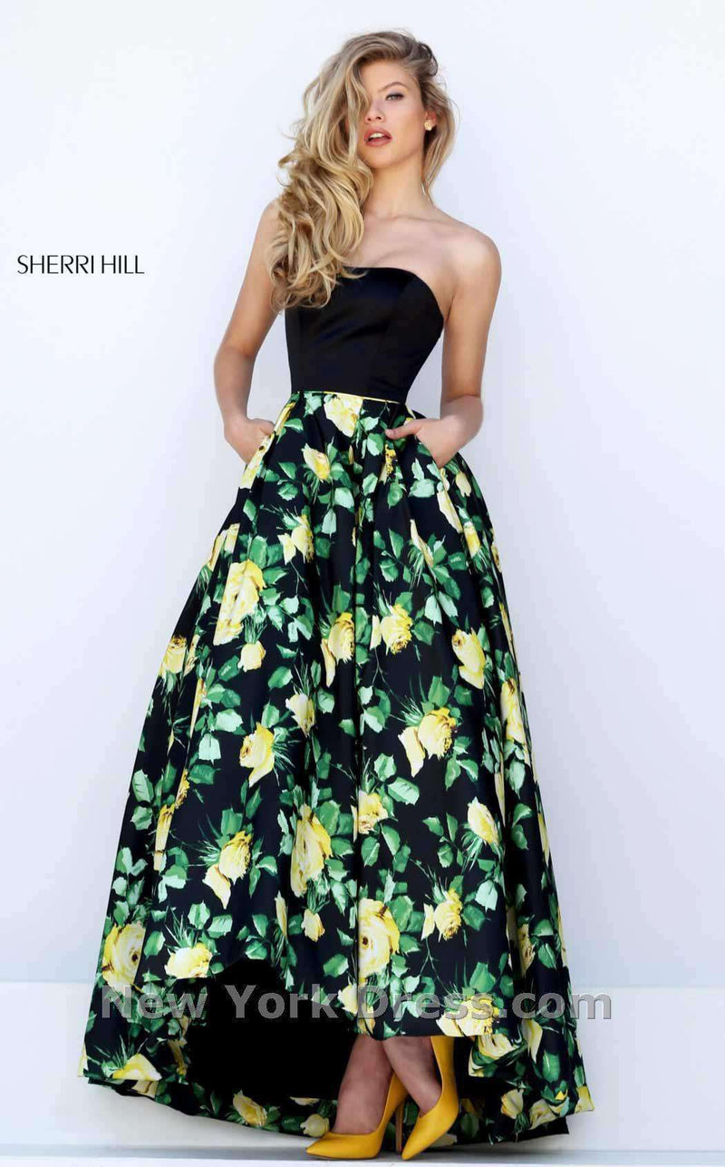 Sherri Hill 50206 Black/Yellow