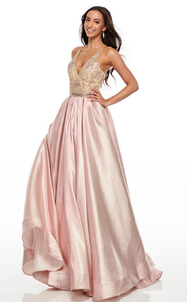 Rachel Allan 7002 Dress Blush-Nude