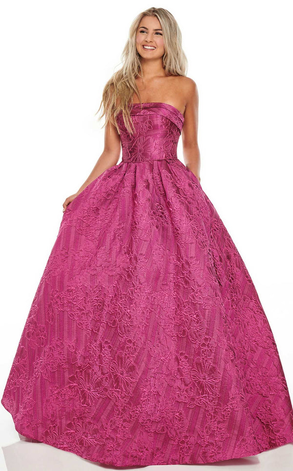 Rachel Allan 7013 Dress Fuchsia