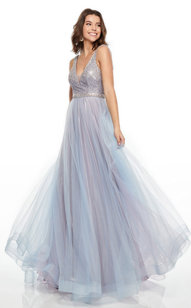 Rachel Allan 7015 Dress Lilac-Powder-Blue