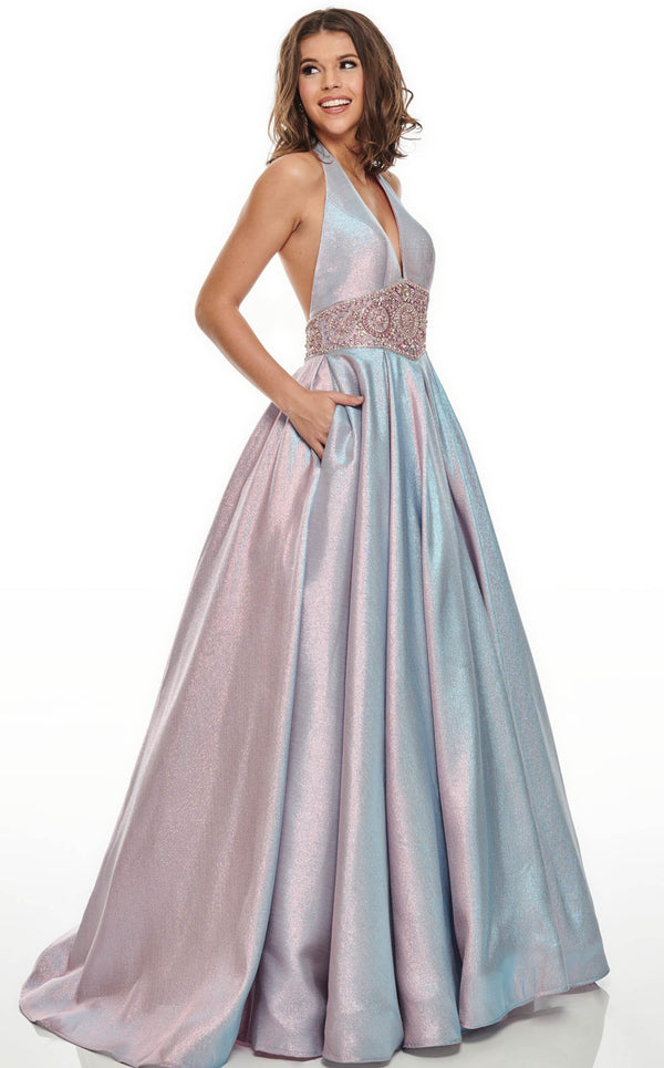 Rachel Allan 7037 Dress Blueberry