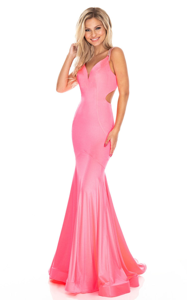 Rachel Allan 7042 Dress Flamingo