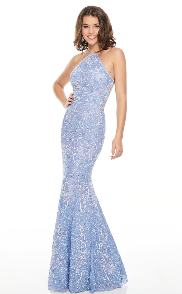 Rachel Allan 7043 Dress Powder-Blue
