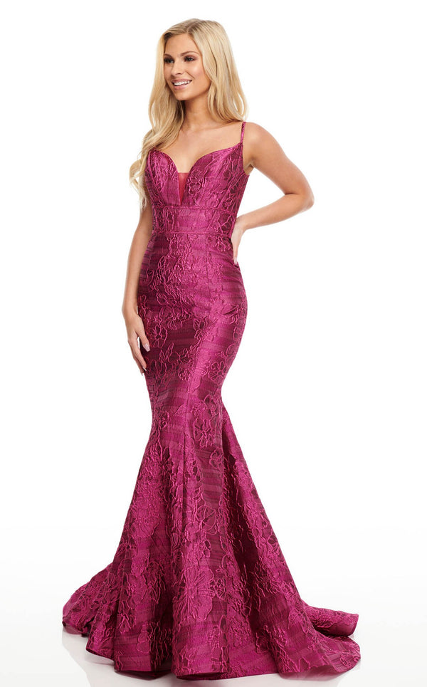 Rachel Allan 7068 Dress Fuchsia