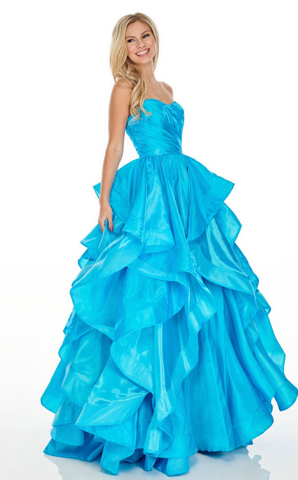 Rachel Allan 7074 Dress Turquoise