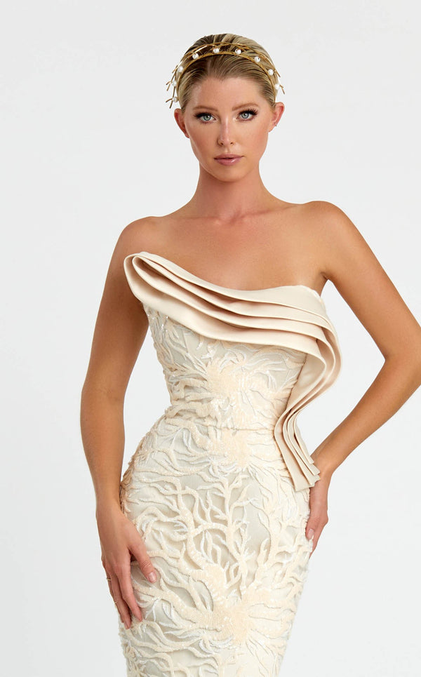 Nicole Bakti 7096 Dress Ivory