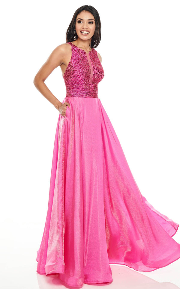 Rachel Allan 7116 Dress Fuchsia