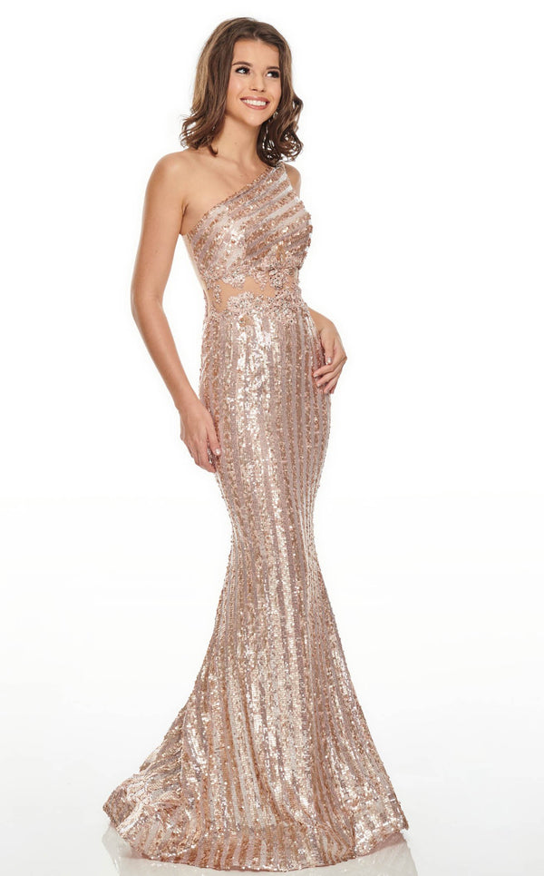 Rachel Allan 7121 Dress Rose-Gold
